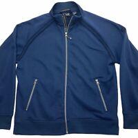 Mountain Hardwear Men's Medium Blue Soft Shell Casual Full Zip Jacket