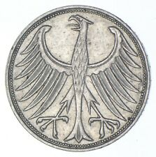 SILVER - WORLD Coin - 1951 Germany 5 Marks - World Silver Coin *902