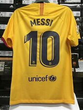 Nike Fc Barcelona Away 19/20 Yellow Red Blue Lionel Messi #10 Size Medium  Only