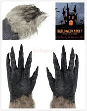 Hot Pair Halloween Werewolf Wolf Paws Claws Cosplay Gloves Creepy Costume Party
