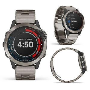 Garmin Quatix 6 Sapphire Titanium w/ Vented titanium Smart GPS Sports Watch