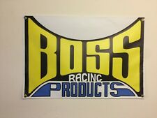 BOSS RACING products BMX BANNER 3ft X 2ft blue Yellow