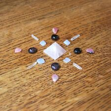 Mini Crystal Grid Kit to Attract Love/Enhance Current Relationship Rhodochrosite