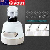 AU 360° Kitchen Tap Head Water Saving Faucet Extender Spray Aerator Sprayer Sink