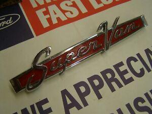 OEM Ford 1968 1974 Econoline Super Van Rear Door Emblem 1969 1970 1971 1972 1973