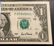 2001 STAR NOTE ATLANTA $1 Dollar Bill , Crisp, consecutive,uncirculated *GEM*