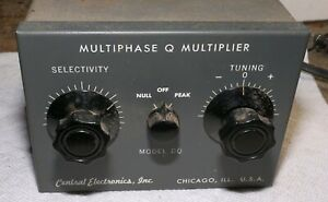 Central Electronics Q Multiplier for 455 KHz IF Radios