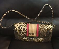 Jessica Simpson animal print clutch/crossbody Purse/removable strap/ Kisslock