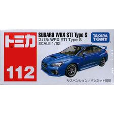 Takara Tomy Tomica #112 Subaru WRX STI Type S BLUE 1/62 Diecast Toy Car JAPAN FS