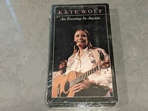 """*NEW/SEALED* KATE WOLF """"An Evening In Austin"""" Live Concert Video VHS 1988 Indie"""