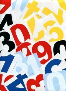 Self Adhesive Door Numbers Weatherproof Vinyl Decal Sticker House Office Bin 123