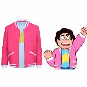Steven Universe Jacket Cosplay Costume Adult Zip Up Jacket Shirt Halloween Coat