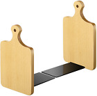 Wood Bookends Kitchen Cookbook Bookends Quality Cutting Board Decorative