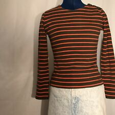 Vintage 90's Tommy Hilfiger Long Sleeve Shirt Small Stripes VTG Buttons Cute