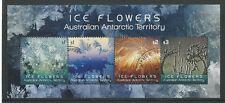 AUSTRALIA Antártida Territory 2016 Hielo Flores Hoja Miniatura MATASELLADO