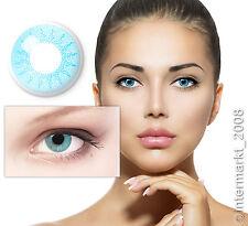 Farbige Crazy Fun Karneval Halloween Kontaktlinsen Contact lenses SOLAR BLUE