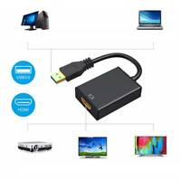 USB 3.0 to HDMI Adapter Cable Male to Female Video 1080P PC For TV HDTV w/ Audio