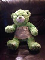 Build A Bear Green Irish Bear Pre-owned