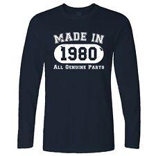 40E Anniversaire Manche Longue Made in 1980 Toutes les pièces d'origine