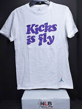 Air Jordan Retro T-Shirt Men's Small WHITE Kicks Is Fly (Original Jordan Wear)