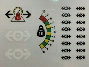 Custom Replacement Stickers for 9v Train Freight and Crane Railway 4565