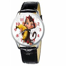 Monkey Holding A Banana Stainless Wristwatch Wrist Watch