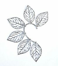 Ear Cuff Clip Hook Silver Earring Clip Leaves Nature Womens Fashion Jewellery