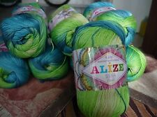 100% Mercerized Cotton Yarn Alize Miss Batik Thread Crochet Hand Knitting #3724