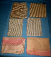 VTG LOT 6 BLUE STRIPE/Pink TICKING FEATHER PILLOW CASE FEATHERS REMOVED
