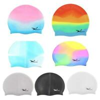 Waterproof Flexible Silicone Swimming Cap Unisex Adult Men/Women Elasticity New