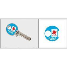 Sticker Paris Clé adhésif autocollant triangle
