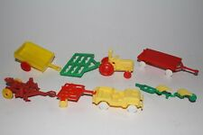 1950's Marx? Miniature Farm Tractor and Implement Set