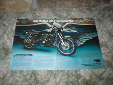 1977 Harley-Davidson XLCR Cafe Racer Cycle Ad 2 seperate  pages 1000cc