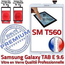 Vitre Tactile Blanche SM-T560 TAB E Adhésif Samsung Ecran Assemblé Complet Blanc