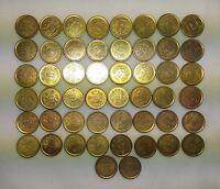 Lot of 50 Japan Showa 1 Yen & 50 sen Brass Coins 50 pcs  - axa-1