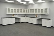 -Laboratory 24' WALL 29' BASE  CABINETS / FURNITURE / Case Work / Benches / Tops