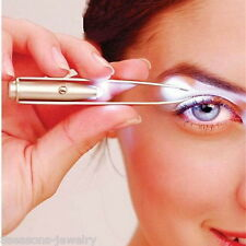 LED Eyelash Eyebrow Hair Removal Tweezer Remover Creative Makeup Tool With Light