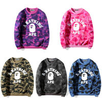 Men's Bape A Bathing Ape Hoodie Camo Pullover Sweatshirt Casual Coat Long Sleeve