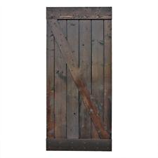 "36""x84"" dark chocolate stain Solid Core Plank Knotty Pine Barn Wood Sliding Door"