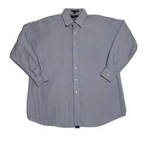 Vintage Tommy Hilfiger Mens 16 1/2(32-33) Blue Long Sleeve Button Down Shirt