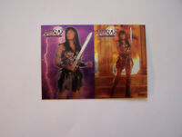 Topps Xena Series 1 Rare 2 Card Chrome Chase Set C1 - C2. (1998).
