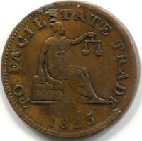 1825 LOWER CANADA 'TO FACILITATE TRADE' HALF PENNY TOKEN - Open Sleeve LC-53A1
