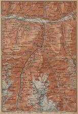 STALDEN/SAAS-FEE AREA. Mischabel Group Grächen Dom Raron Randa Visp 1901 map