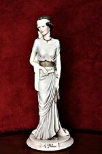 Vintage A.Belcari/Capodimonte Lady Figurine - signed - Made In Italy