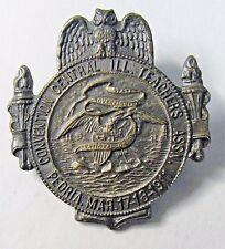 1911 CENTRAL ILLINOIS TEACHERS ASSOC. Convention PEORIA badge medal pinback  +