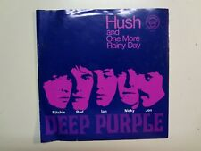 "DEEP PURPLE: Hush!-One More Rainy Day-U.S. 7"" 68 Tetragrammaton T-1503, Rare PSL"