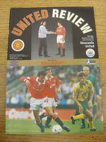 21/08/1993 Manchester United v Newcastle United [Double Season] . Footy Progs/Bo