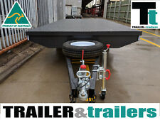 16X8 TANDEM AXLE HEAVY DUTY FLAT TOP/FLATBED/TABLE TOP TRAILER + SPARE + JOCKEY