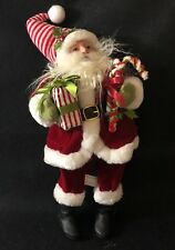 "Raz Imports 15"" Santa Claus Presents and Candy Cane"