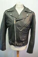 Vintage 80's Distressed Leather Motorcycle BRANDO Jacket Size M